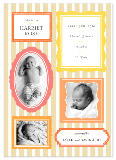 birth announcements - Little Gallery Wall by j.bartyn