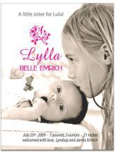 Little Sister Birth Ann... by Lisa Saliture