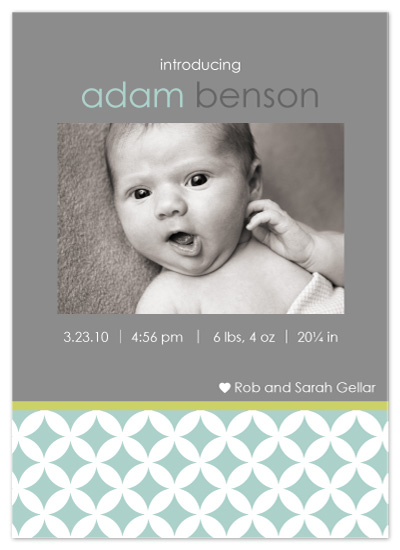 birth announcements - Modern Circles by Bugaboo Announcements