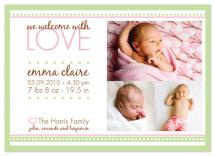 Welcome Love by Peach Blossom Paperie