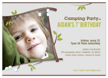 s'more fun! Birthday Party Invitations