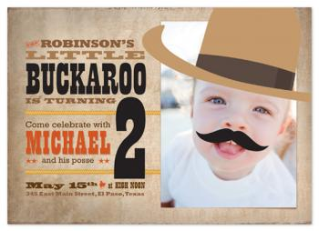 Little Buckaroo Birthday Party Invitations