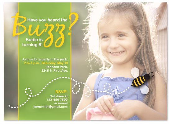 birthday party invitations - Buzzing Birthday by Kate Carpenter