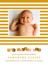 birth announcements - blocks by Oscar & Emma
