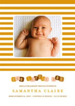 blocks Birth Announcements