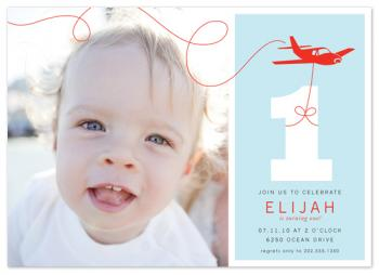 The Birthday Plane Birthday Party Invitations