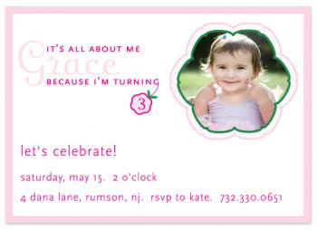 May Flowers Birthday Party Invitations