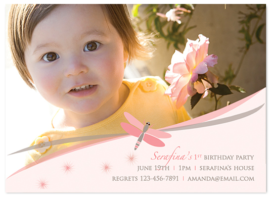 birthday party invitations - Spring Dragonfly by MAGG + LOUIE