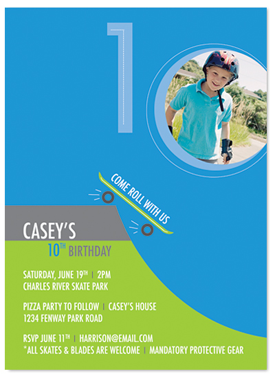 birthday party invitations - let's skate! by MAGG + LOUIE