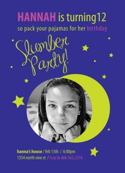 pack your pjs slumber party Birthday Party Invitations