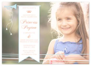 Princess Birthday Birthday Party Invitations
