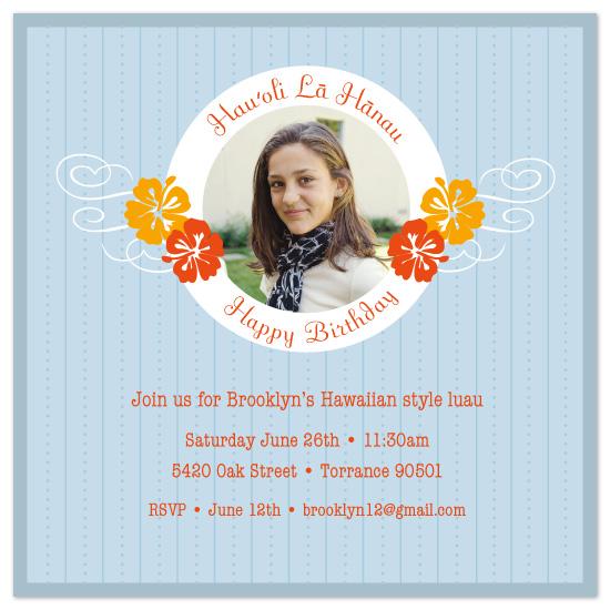 birthday party invitations - Hau'oli La Hanau by Sashi & Miko