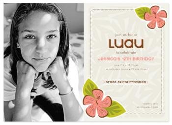Lovely Luau Birthday Party Invitations