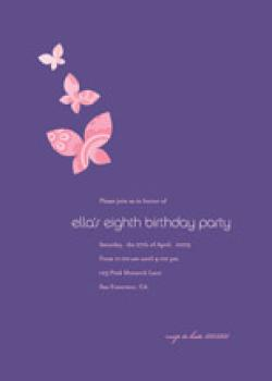 Monarch Flutter Birthday Party Invitations