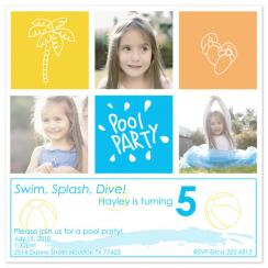 Birthday Squares Birthday Party Invitations