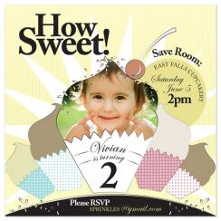 Sweet Sprinkles Birthday Party Invitations