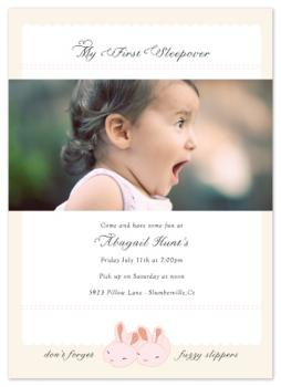 bunny slippers Birthday Party Invitations