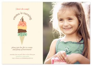 here's the scoop Birthday Party Invitations