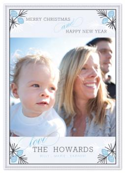 Frosted Pine Holiday Photo Cards