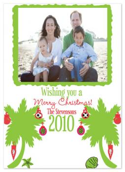 Palm Christmas Holiday Photo Cards