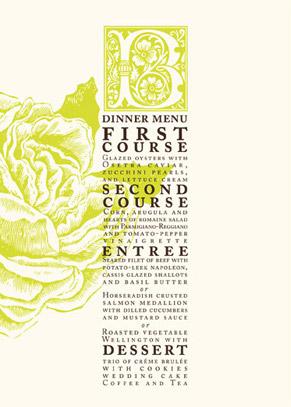 menu cards - RoseGarden by LOVEkacie