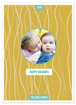 confetti lines Holiday Photo Cards