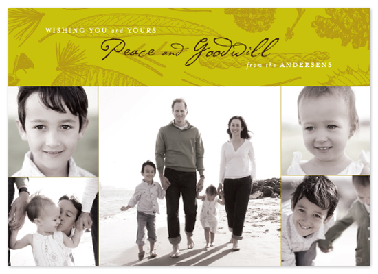 holiday photo cards - Evergreen Peace by Design Lotus