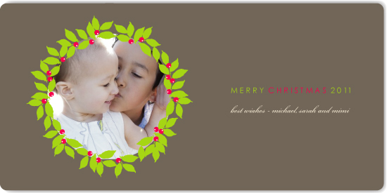 holiday photo cards - wreathpiece by Marabou Design