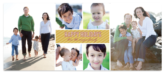 holiday photo cards - square simple by Katie Leggitt