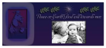 Purple Lion Holiday Photo Cards