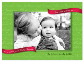 The Language of Christmas Holiday Photo Cards
