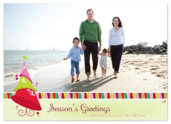 Candy Coated Christmas Holiday Photo Cards