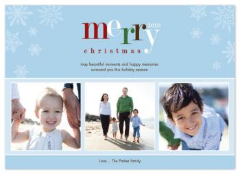 Festive Snowflakes Holiday Photo Cards