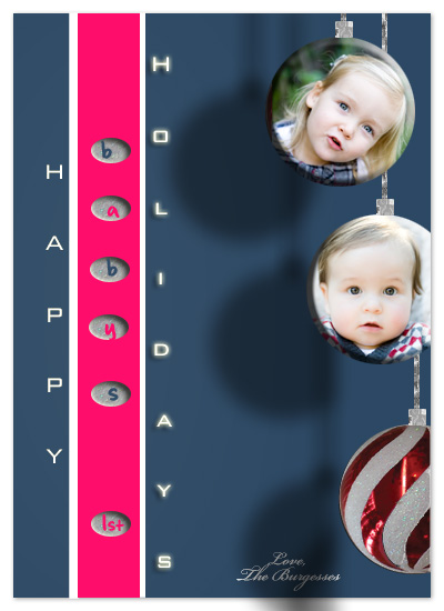 holiday photo cards - baby's 1st by Jessica Termini