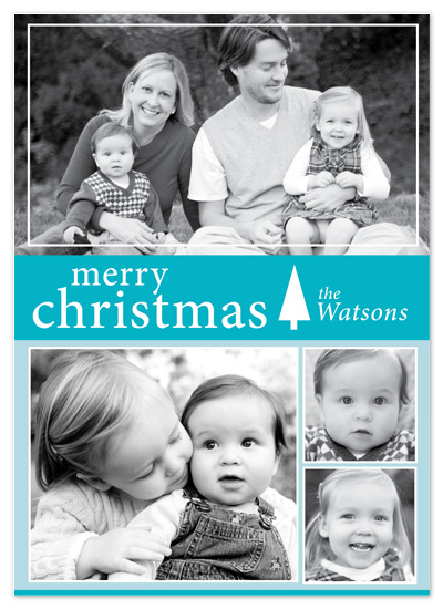 holiday photo cards - Modern Blue by Oneleven Creative