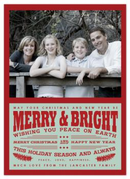 The Retro Type Holiday Photo Cards