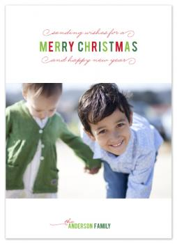 Simple Season Holiday Photo Cards