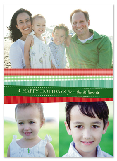 holiday photo cards - Ribbons by Kelly Nasuta