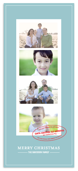 holiday photo cards - Santa Certified, Elf Approved by Paper and Parcel