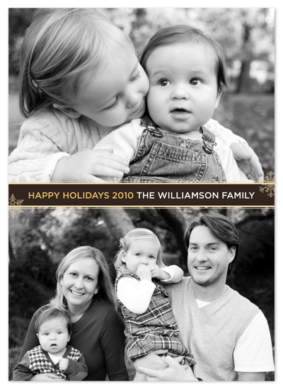holiday photo cards - simple snowflakes by Waui Design