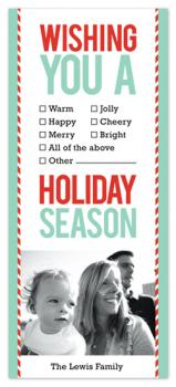 Checklist Holiday Photo Cards