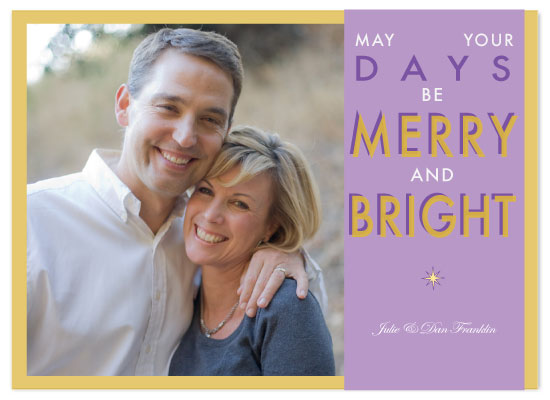 holiday photo cards - Merry & Bright Days by Claire Marco