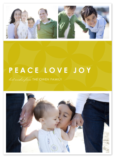 holiday photo cards - simple peace-love-joy by SimpleTe Design