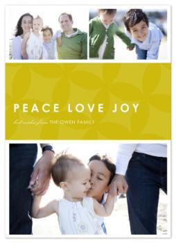 simple peace-love-joy Holiday Photo Cards