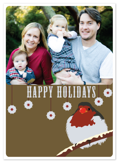 holiday photo cards - Robin Holiday Card by Simon Nathan