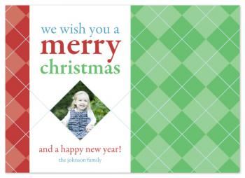 Argyle Christmas Holiday Photo Cards