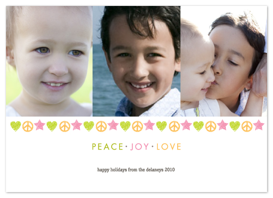 holiday photo cards - PEACE . JOY . LOVE by Susie Acheson