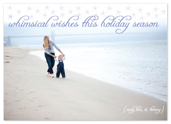 holiday photo cards - Whimsical Wishes by Kathleen Burlew