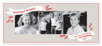 Peppermint Ribbon Holiday Photo Cards