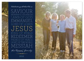 Celebrating Christ Holiday Photo Cards
